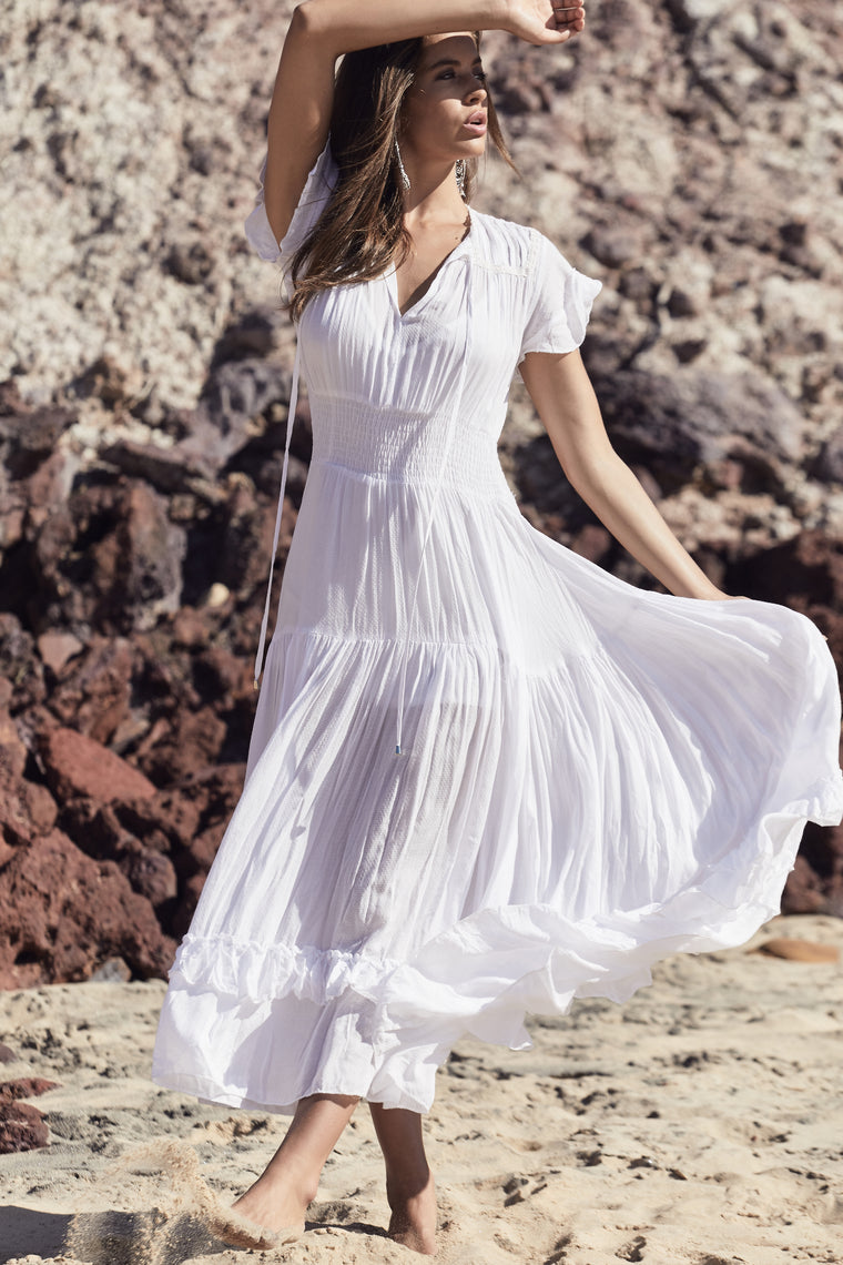 Artemis Dress - White Cotton