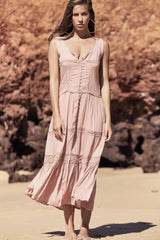 Megara Dress - Dusty Pink