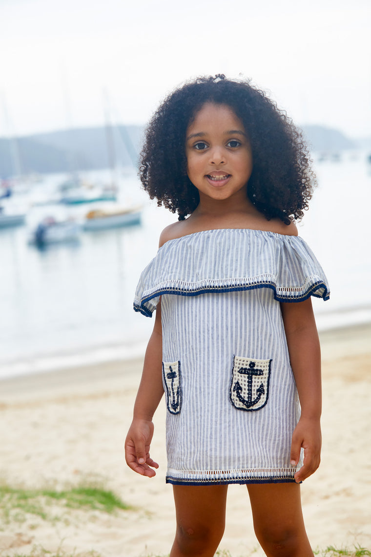Josie Dress - Sailor Stripes