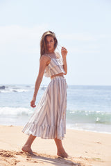 Jordyn Top & Kylie Maxi Skirt Set - Oasis Stripe