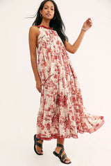 Tropical Toile Maxi - Ivory