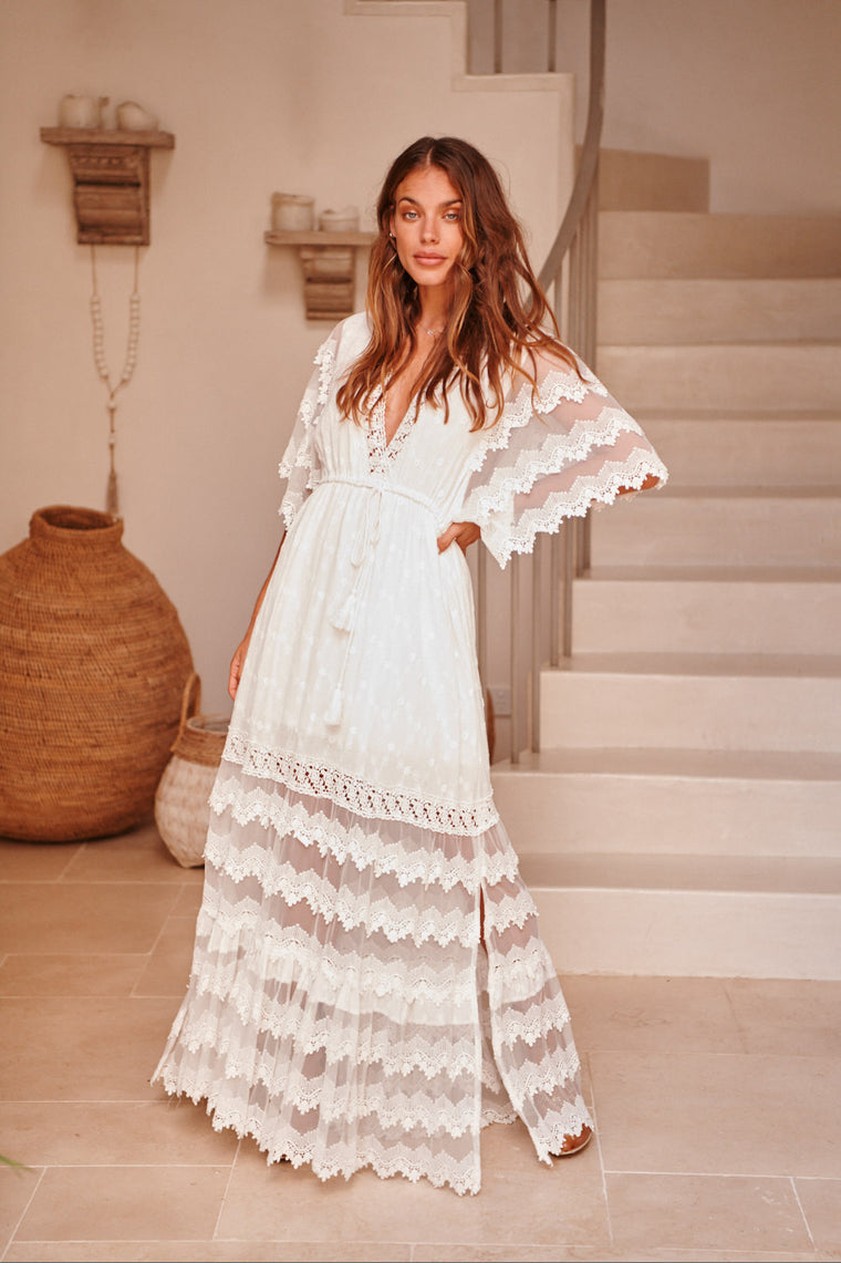 Bungalow Maxi - White Embroidered