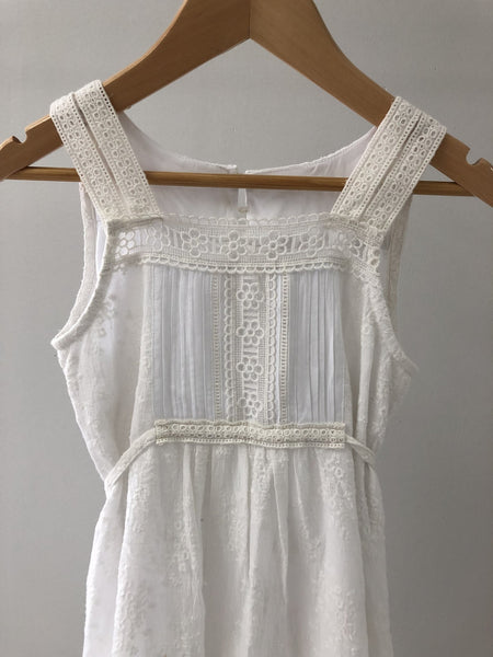 Beatrice Dress - White Embroidered