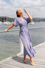 Azul Wrap Maxi - Good Vibrations