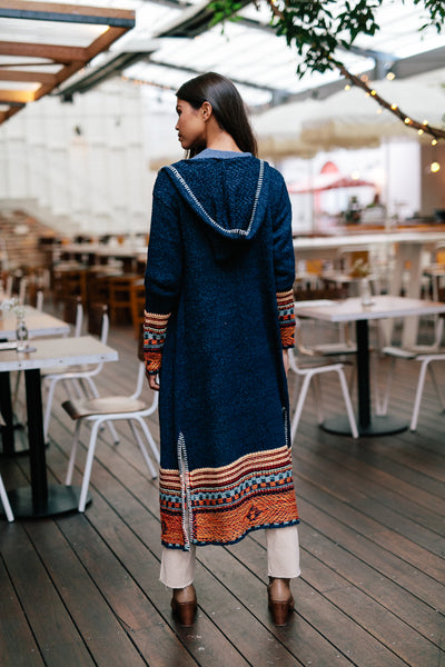 Strata Blue - Cardigan Knit