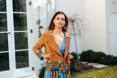 Embroidered Jacket - Tan Sivan