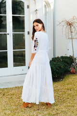 Tessa Maxi - Clementine White Embroidered