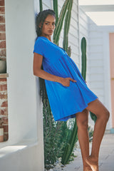 Voyage Mini Dress - Blue