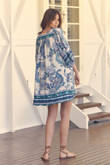 Adela Midi Dress - Blue Bird