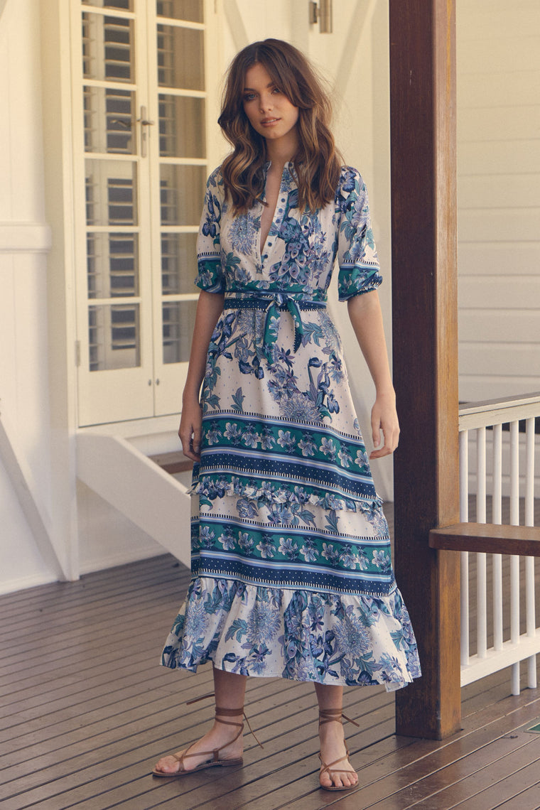 Murano Maxi Dress - Blue Bird