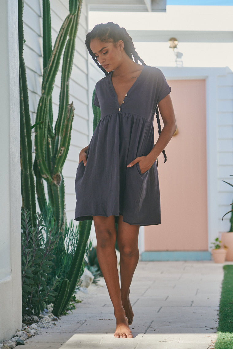 Voyage Mini Dress - Charcoal