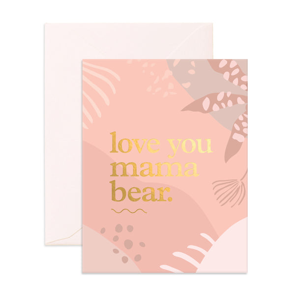 Love You Mama Bear Greeting Card