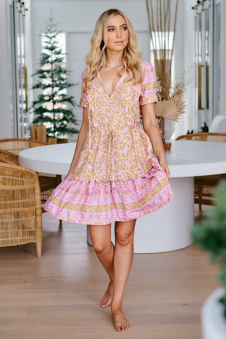 Remy Mini Dress - Honeycomb