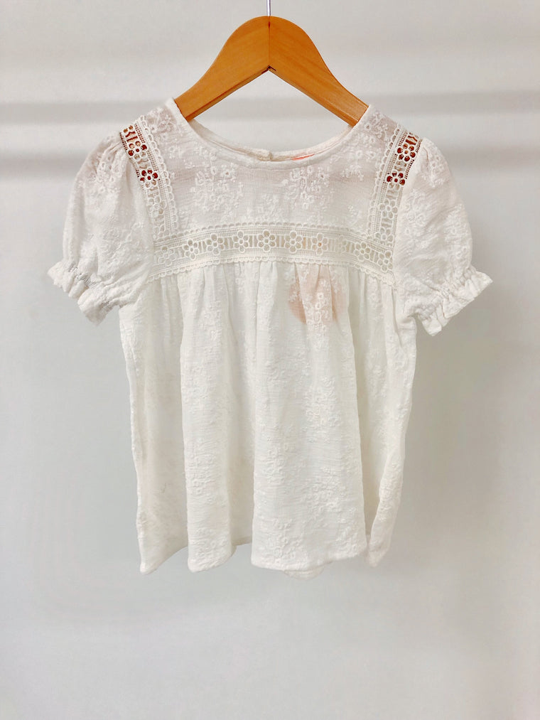 Paris Top - White Embroidered