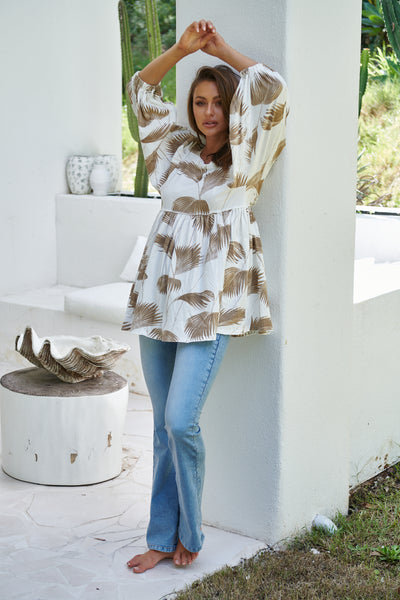 Tami Tunic - Palm Springs Ivory