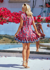 Faithful Mini Dress - Strawberry Kiss