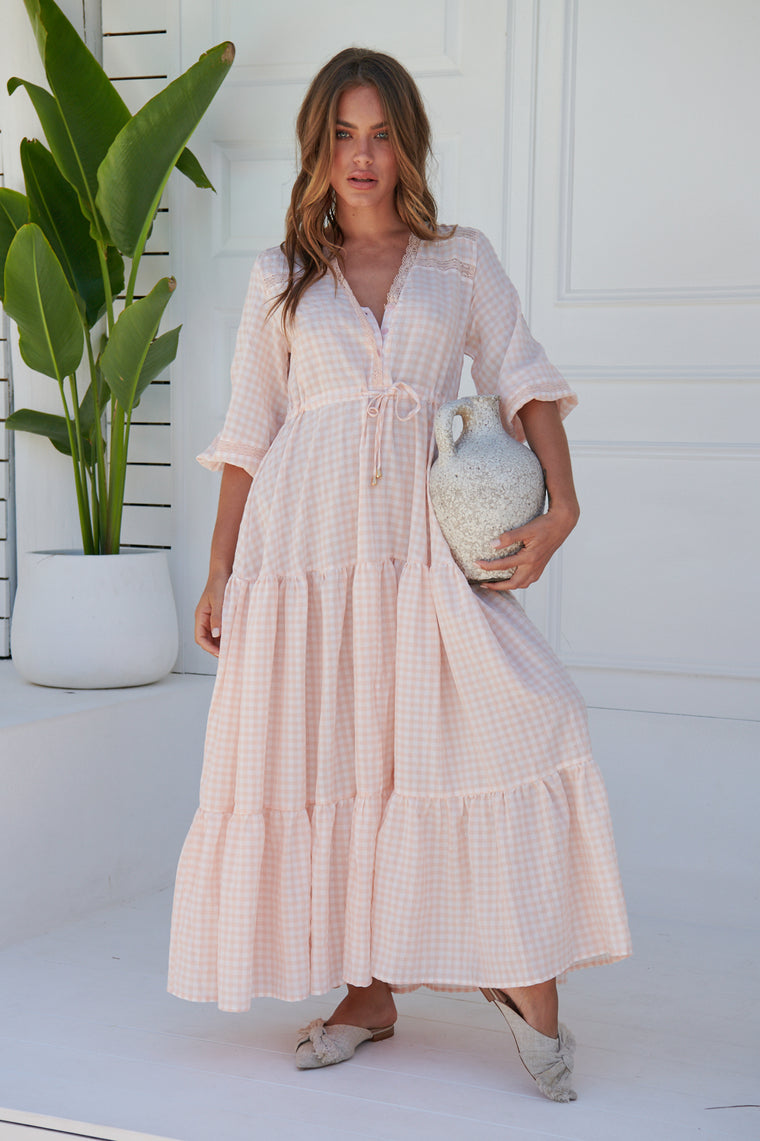 Calista Maxi Dress - Ria Gingham