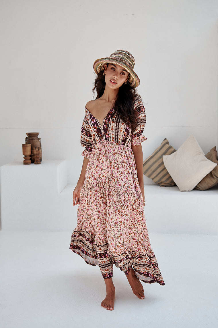 Madelene Print Lorena Maxi Dress