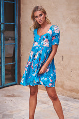 Classico Mini Dress - Bermuda Bay
