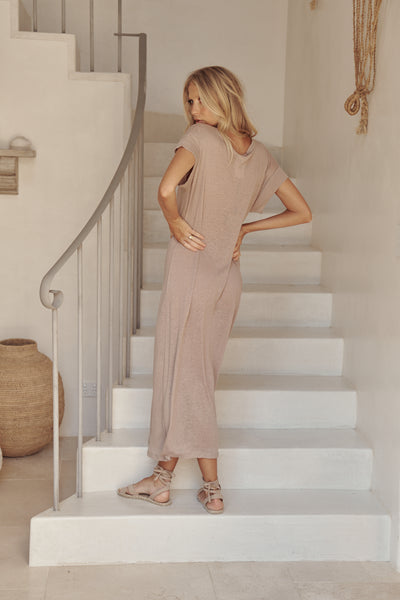 Avalon Basic Vail Dress - Oatmeal
