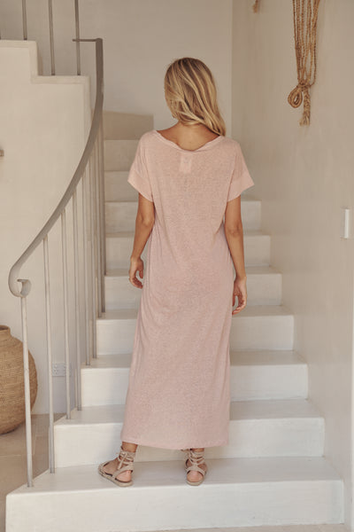 Avalon Basic Vail Dress - Rose