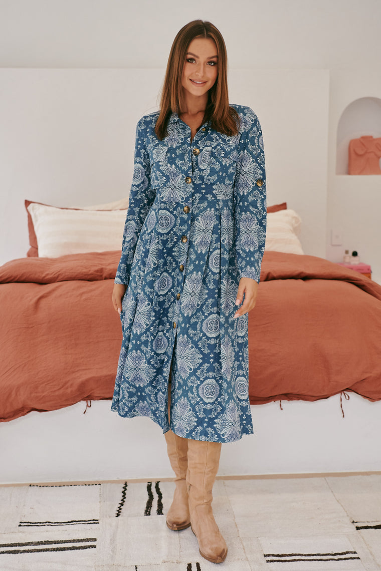 Jedda Midi Dress - Lost Lake