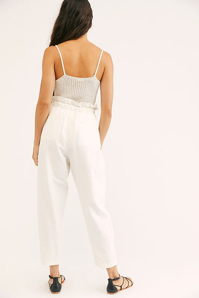 Margate Pleated Trouser - Zinc White