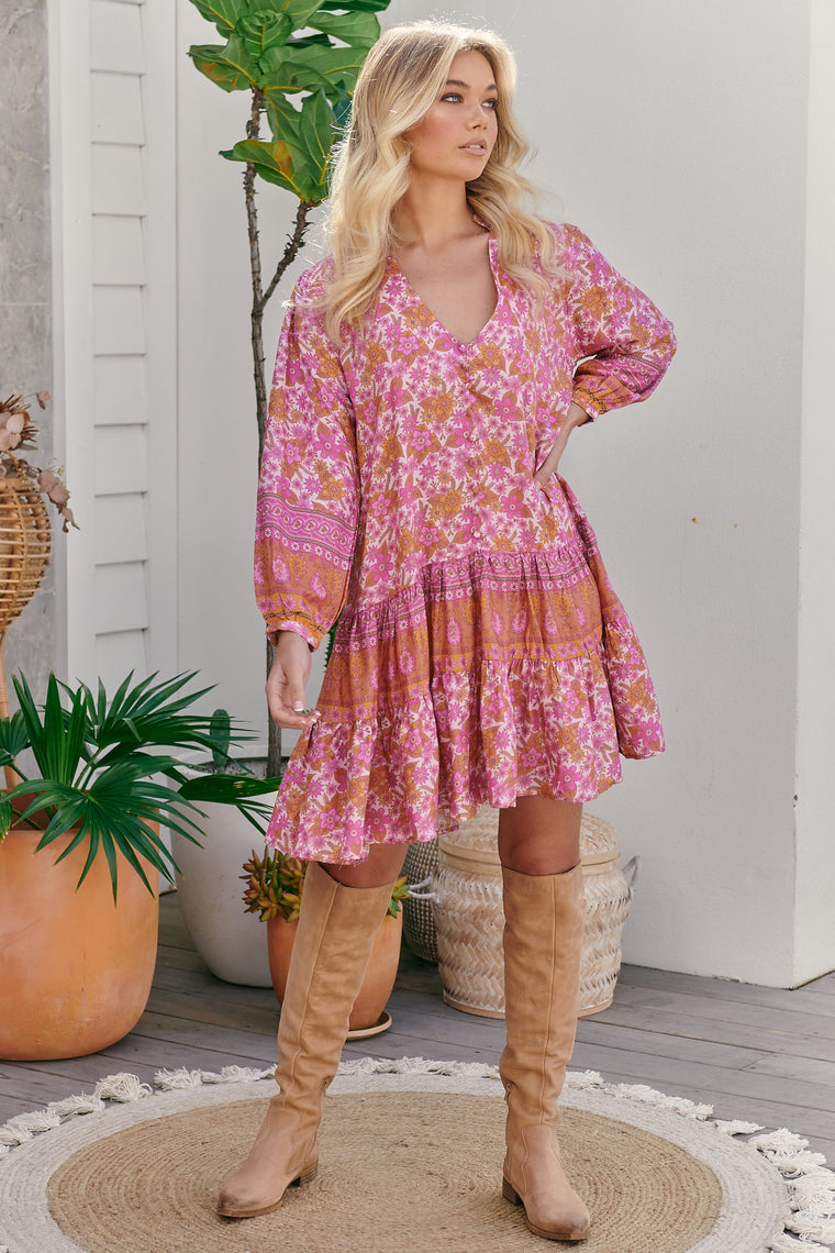 Payson Mini Dress - Pink Dahlia