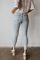 Raw High Rise Jegging - Acid Wash Indigo