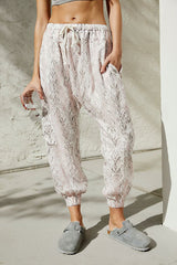 Rise To The Sun Printed Harem Pants - Powder Combo
