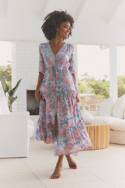 Tessa Maxi Dress - Rainbow Sherbet
