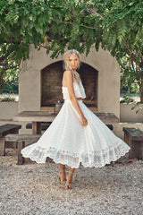 Jordyn Top & Vela Skirt Set  - Snow White Lace