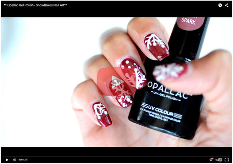 Opallac Snow Flakes Nail Art