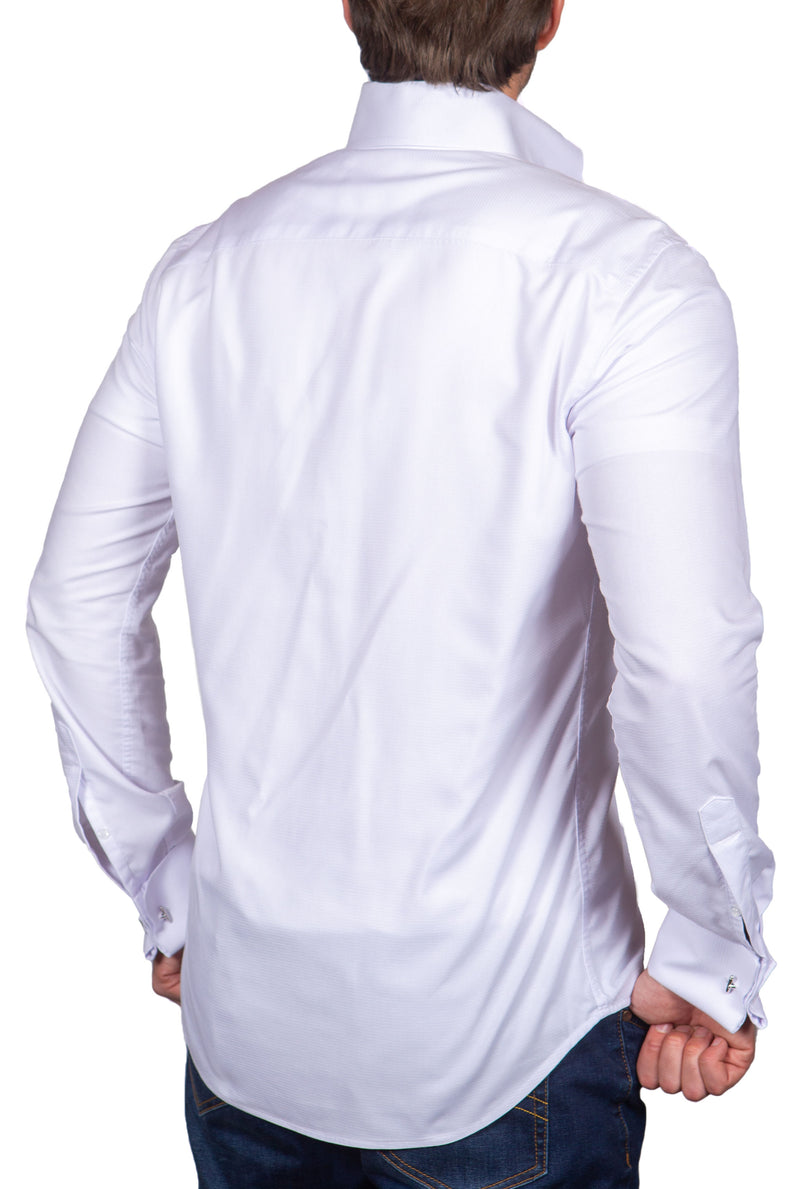 Classic White with Button Down Big Dog Collar