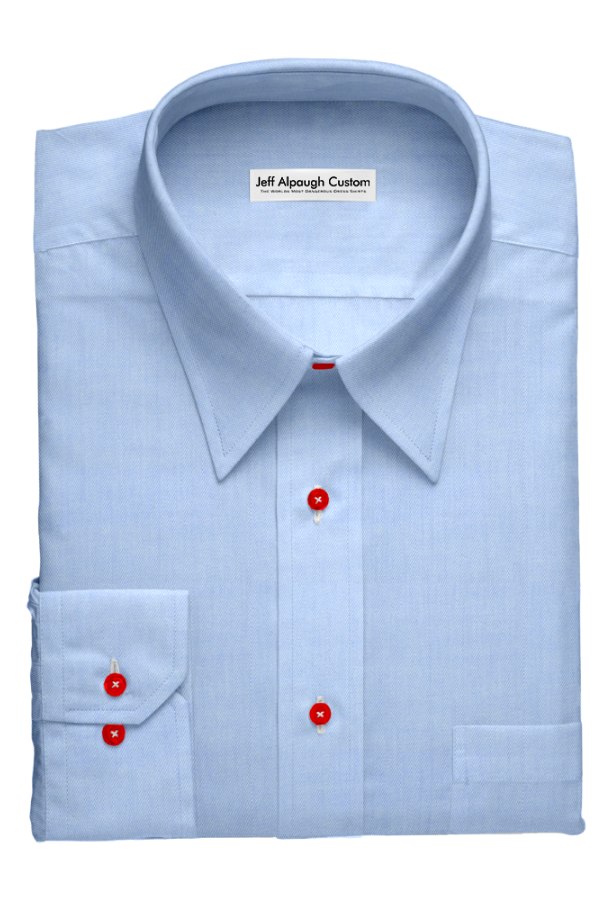 Classic Light Blue With Red Buttons