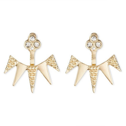 SUGARFIX by BaubleBar™ Spike Ear Jacket Earrings - Gold
