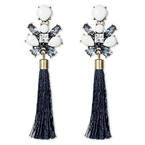 SUGARFIX by BaubleBar™ String Tassel Drop Earrings - Navy