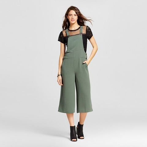 Women's Crop Overall Jumpsuit Olive - Xhilaration™