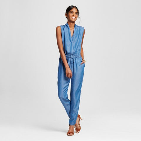 Women's V-Neck Jumpsuit with Pockets - Alison Andrews