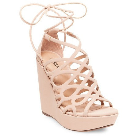 Women's Wild Pair Energy Platform Wedge Lace Up Gladiator Sandals