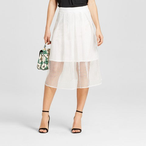 Women's Gingham Lace Birdcage Skirt