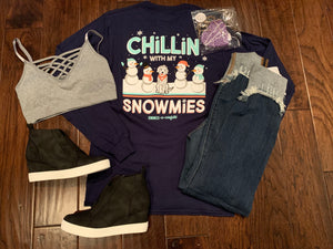 Chillin with My Snowmies Tee