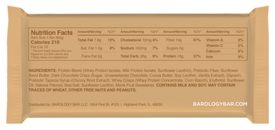 Barology High Protein Energy Bar for Men - Chocolate Chip Cookie Dough - Barologybar.com