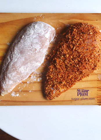 Sugar Plum's Sriracha Peanut-encrusted Chicken