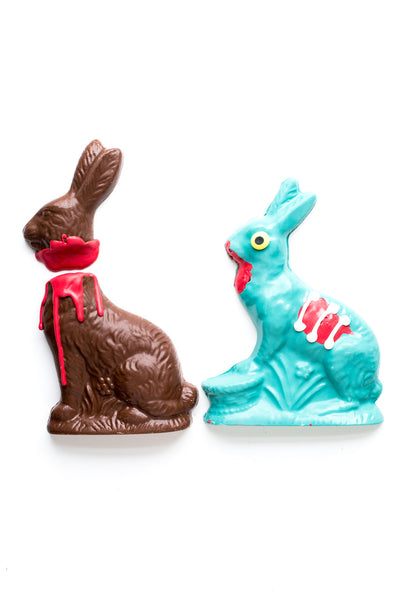 LIMITED EDITION Chocolate Zombie Bunny & Victim Set