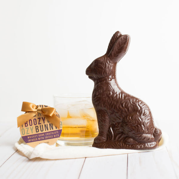Whiskey-Flavored Dark Chocolate Toffee Bunny