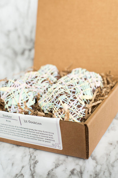 Spring Chocolate-Covered Sandwich Cookies - Box of 12
