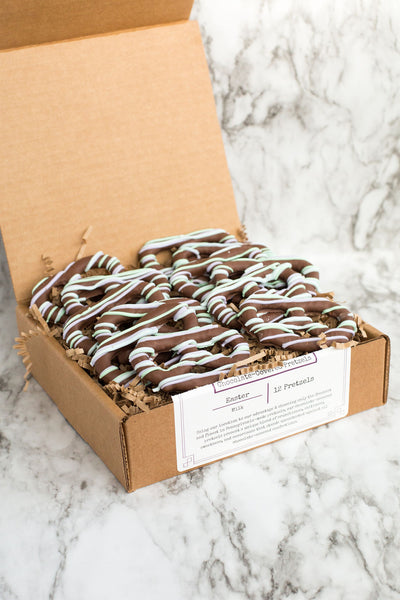 Spring Chocolate-Covered Pretzels - Box of 12