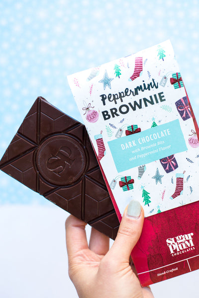 Peppermint Brownie Chocolate Bar - 4 Pack