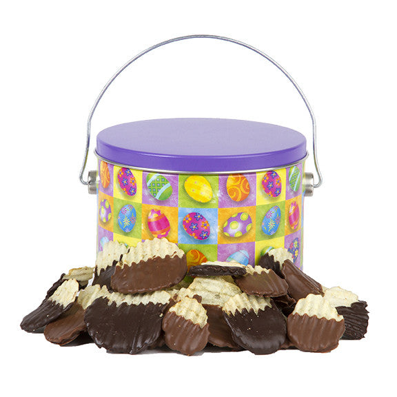 Easter Chocolate-Covered Chips Tin - Sugar Plum Chocolates